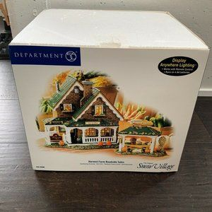 DEPT 56 Snow Village HARVEST FARM ROADSIDE SALES!